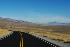 Highway 447 to Gerlach, Nevada. Highway 447 to Gerlach and Black Rock Desert in Nevada Royalty Free Stock Images
