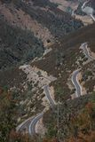 Highway 49 in the Sierras. Highway 49 is dubbed the little dragon Royalty Free Stock Image