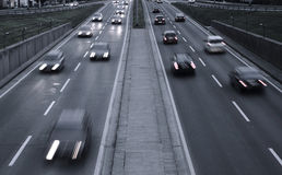 Highway. Traffic in the evening Royalty Free Stock Image