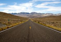 Highway 50 (The Loneliest Road) in Utah. Highway 50 is the Loneliest Road in Southwest USA Stock Photos