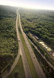 Highway. Aerial view of a highway Stock Images