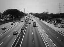 Highway. A stretch of highway in Malaysia stock images