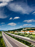 Highway. Dummy highway in summer at Slovakia Royalty Free Stock Image