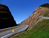 Highway. Road cut in moutain - Maryland Royalty Free Stock Images