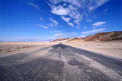 Highway. Empty highway in Death Valley, California Stock Photos