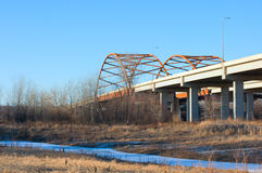 Highway 77 Bridge in Eagan Minnesota Royalty Free Stock Photos
