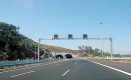 Highway. Portugal road close to Obidos Stock Images