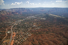 Highway 89a and Sedona Stock Photo