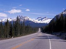 Highway 93, Icefields Parkway, Canada. Royalty Free Stock Photography