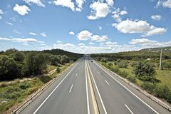Highway A22 in the Algarve Portugal Stock Images