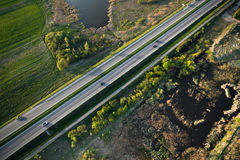 Highway from above Royalty Free Stock Images