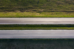 Highway from above Royalty Free Stock Photo