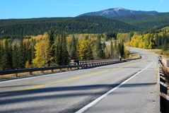 Highway on above Elbow River Royalty Free Stock Photography
