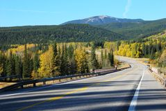 Highway on above Elbow River Stock Image