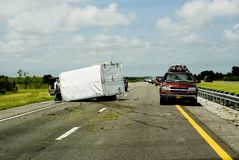 Highway accident. In USA the summer of 2008 Stock Images