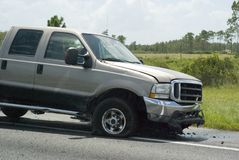 Highway accident. In USA this summer Royalty Free Stock Photo