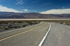 Highway across Panamint Valley in Death Valley Stock Photography