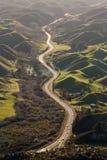 Highway across volcanic landscape. In Rotorua, New Zealand royalty free stock image