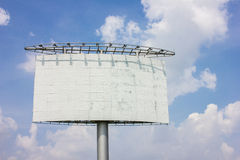 Highway advertising board on blue sky Stock Images
