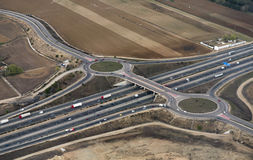 Highway Aerial Madrid Royalty Free Stock Photography