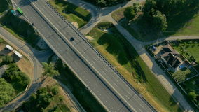 Highway aerial view stock video