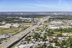 Highway aerial view Royalty Free Stock Photography