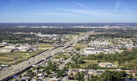 Highway aerial view Stock Photo