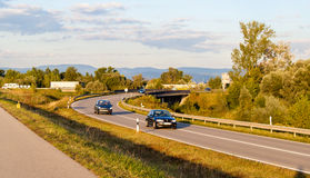 Highway against the mountains background Stock Image