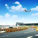 Highway and aircraft Royalty Free Stock Photo
