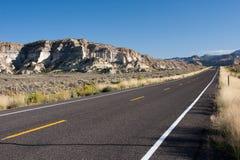 Highway along the mountains Stock Photos