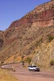 Highway along Salt River Canyon Stock Photography