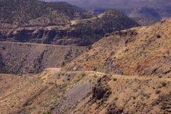 Highway along Salt River Canyon Stock Image