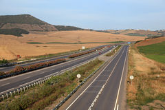 Highway in Andalusia, Spain Stock Photography