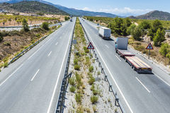 Highway through Andalusia, Spain Stock Image