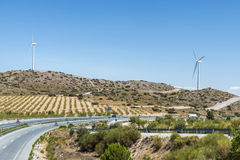 Highway through Andalusia, Spain Stock Photo