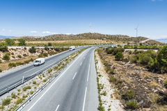 Highway through Andalusia, Spain Stock Images