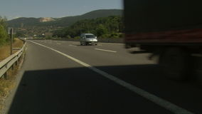 Highway aoutoban traffic timelapse stock video footage