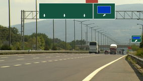 Highway aoutoban traffic timelapse. HD 1080i stock footage