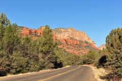 Highway through Arizona desert Stock Photography