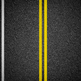 Highway asphalt road top view royalty free stock photography