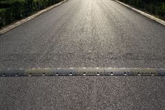 Highway or the asphalted road and hump Royalty Free Stock Photography