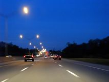 Free Highway At Night Royalty Free Stock Images - 9660269