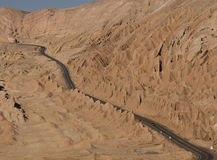 Highway in the Atacama Desert - Chile Royalty Free Stock Photography