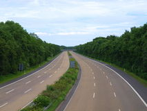 Highway Autobahn Motorway Royalty Free Stock Images