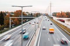 Highway in autumn Stock Photos