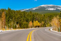 Highway at autumn in Colorado, USA. Stock Image