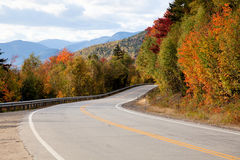Highway in the autumn forest Royalty Free Stock Photography
