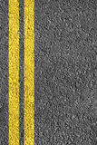 Highway Background. Close-up highway dividing lines Royalty Free Stock Photo