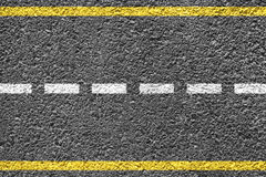 Highway Background. Close-up highway dividing lines Royalty Free Stock Image