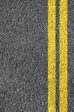 Highway Background. Close-up highway dividing lines Royalty Free Stock Images